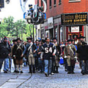 Filming New England Patriots Commercial Art Print