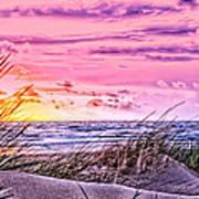Filtered Beach Art Print