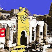 Final Days Of San Agustine Cathedral 1863-1936 Circus Poster Tucson Arizona 1936-2013 Art Print