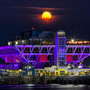Final Moon Over The Pier Art Print