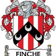 Finche Coat Of Arms Irish Art Print