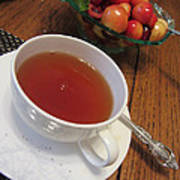 Fine Tea And Cherries Art Print