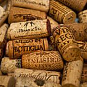 Fine Wine Corks Art Print