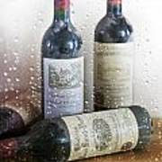 Fine Wine On A Rainy Afternoon Art Print