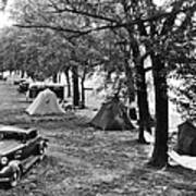 Finger Lakes Camping Art Print