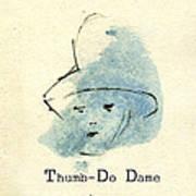 Finger Prints 1998 Forensic Whimsy Thumb-do Dame Art Print