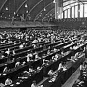 Fingerprinting At The Federal Armory 1945 Art Print