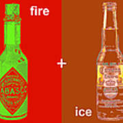 Fire And Ice 20130405 Art Print by Wingsdomain Art and Photography