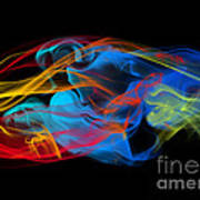Fire And Ice Smoke  Art Print