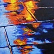 Fire And Rain Art Print