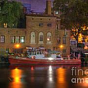 Fire Boat On Cuyahoga River Art Print