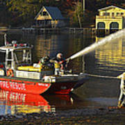 Fire Boat Art Print