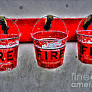 Fire Buckets Art Print