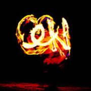 Fire Dancer 4 Art Print