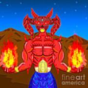 Fire Demon Art Print