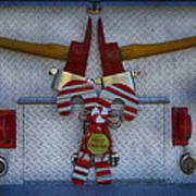 Fire Department Christmas 3 Art Print