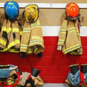 Fire Equipment At Rest Art Print