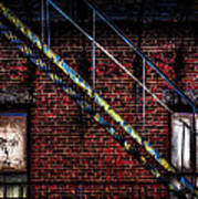 Fire Escape And Windows Art Print