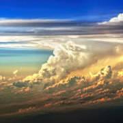 Fire In The Sky From 35000 Feet Art Print by Scott Norris