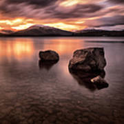 Fire In The Sky Loch Lomond Art Print