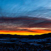 Fire In The Sky - Steamboat Sunset Art Print