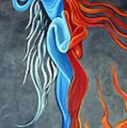 Fire N Ice Art Print