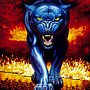 Fire Panther Art Print