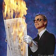 Fire Reader Art Print