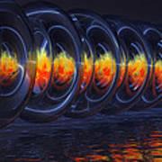 Fire Rings Art Print