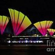 Fire Sails - Sydney Vivid Festival - Sydney Opera House Art Print