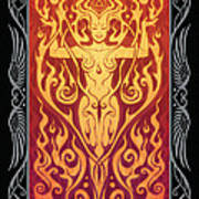 Fire Spirit V.2 Print by Cristina McAllister