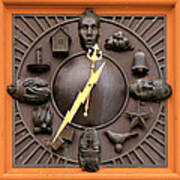 Fire Station Clock Art Print