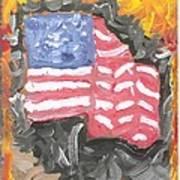 Fire Storm Flag Art Print