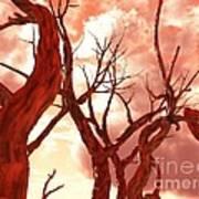 Fire Trees Art Print