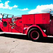 Fire Truck  Art Print by Lisa Cortez