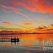 Firecracker Sunset Art Print