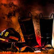 Firefighter Art Print