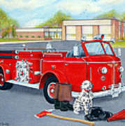 Firefighter - Still Life Art Print