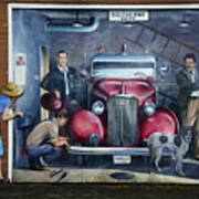 Firehall Mural Sultan Washington 1 Art Print