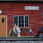 Train Station Mural Sultan Washington 3 Art Print