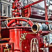 Fireman - Antique Brass Fire Hose Print by Paul Ward