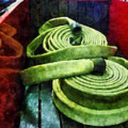 Fireman - Coiled Fire Hoses Art Print