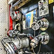 Fireman - Control Panel Art Print