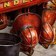 Fireman - Hats - I Volunteered For This  Art Print by Mike Savad