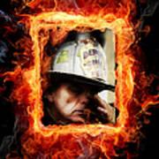 Fireman Hero Art Print