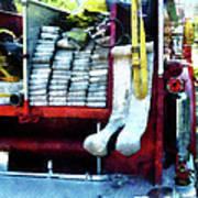 Fireman - Hoses On Fire Truck Art Print
