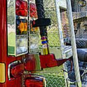 Fireman Keep Back 300 Feet Art Print