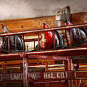 Fireman - Ladder Company 1 Art Print by Mike Savad