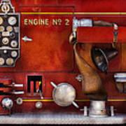 Fireman - Old Fashioned Controls Art Print