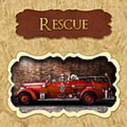 Fireman - Rescue - Police Art Print by Mike Savad